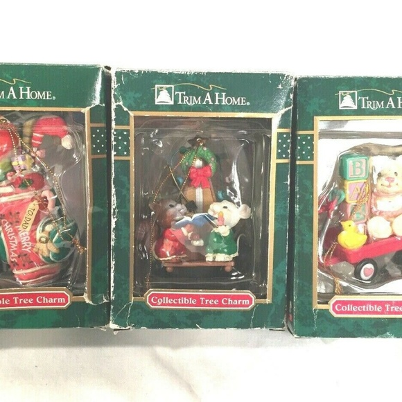 Trim A Home Other - Trim A Home Ornaments Lot Of 3 Tree Charms